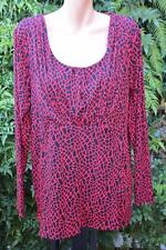 MORE MARCO POLO Black/Red Top  Size 1XL Stretch NEW-rrp$79.95 Work/evening Wear