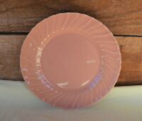 "VTG Franciscan Ware Coronado Glossy Swirl Coral Pink Luncheon Plate 9 1/4"" USA"