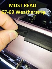 67-69 Camaro Trunk Weatherstrip Gasket Seal Correct Concours A MUST READ!
