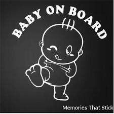BABY ON BOARD BUFFO finestrini auto JDM VW Vauxhall Novelty Vinile Decalcomania Adesivo V2