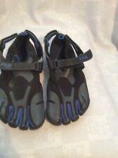 Mens FILA Skeletoes EZ Slid Running Water Shoes Black & Gray - Blue sz 7
