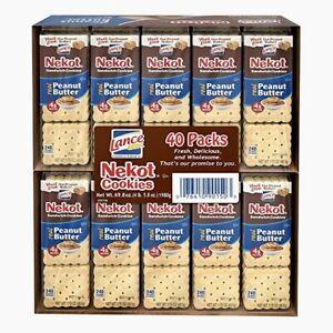 Lance Nekot Peanut Butter Sandwich Cookies  (40 CT) 4.36 lbs (1 PACK)