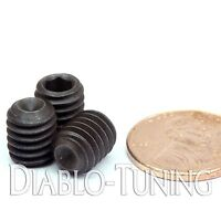 "5/16-18 x 3/8"" - Qty 10 - Socket SET / GRUB SCREWS Cup Point - Black Alloy Steel"