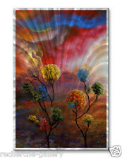 Floral Metal Wall Sculpture Painting USA Made Home Decor