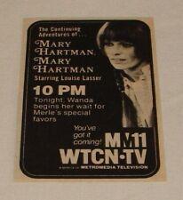 1976 small WTCN tv ad ~ MARY HARTMAN mary Hartman Wanda Begins Her Wait