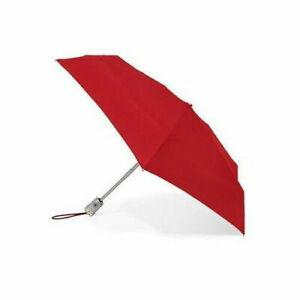 Crimson Red Totes 8603 Signature Auto Push Open/Close Micro 'Bella Umbrella