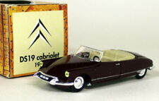 Norev 1/43 Scale - Citroen DS19 Cabriolet 1963 Dark Red Diecast model car