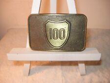 Shield 100** BRASS Tone BELT BUCKLE