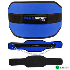 Dipping Belt body building weight Dip Lifting Chain Exercise Gym Training Blue