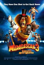 MADAGASCAR 3 EUROPE'S MOST WANTED MOVIE POSTER 2 Sided ORIGINAL INTL 27x40