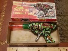 vintage tin friction KO guerrilla combat gun made in japan in box tin toy lot
