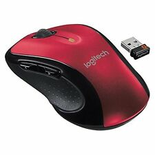 Logitech M510 Wireless Large Mouse Red Standard Very Good