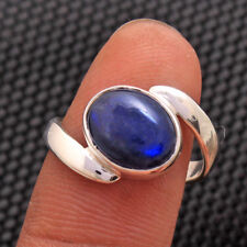 Oval Labradorite Gemstone 925 Sterling Silver Solid Handmade Ring Size Choose