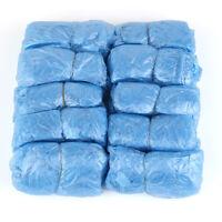 New 100pcs Disposable Blue Plastic Shoe Covers Carpet Cleaning Overshoe