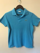 MEN'S COLLARED LACOSTE POLO SHIRT SIZE 3 SMALL BLUE 100% COTTON GOLF