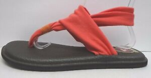Sanuk Size 9 Coral Yoga Sling Sandals New Womens Shoes