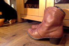 RIEKER ANKLE BOOTS UK 9 EURO 42 TAN LEATHER