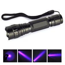 UV WF-501B LED 365NM Ultra Violet Blacklight Flashlight Torch 18650 Light Lamp G