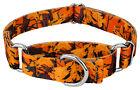 Country Brook Petz® Orange Sunset Camo Martingale Dog Collar