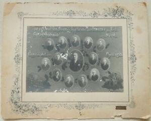BIG PHOTO DIRECTORS JEWISH BANK IN SIRET BUKOWINA ROMANIA JUDAICA 1922