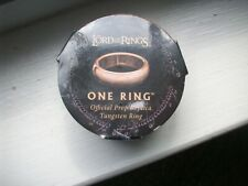 Lord of the Rings ONE RING Sz 8 Tungsten Official Prop Replica WETA Jens Hansen