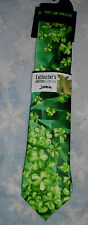 Jerry Garcia Green Landscape Irish Shamrock St Patrick's Day Edition Neck Tie