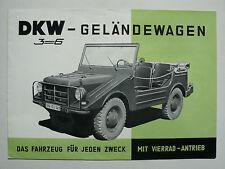 Prospetto fuoristrada DKW 3 = 6 con attacco vierrad (MUNGA), circa 1957, 6 pagg., Folder