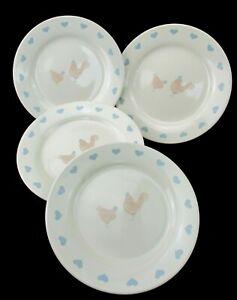 """Set of 4 Lakeland Ceramic 7 3/4"""" Lunch Salad Dessert Side Plates"""