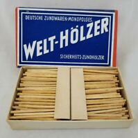 Vintage WWII Welt - Holzer FULL Match Stick Box Nazi/German World War 2