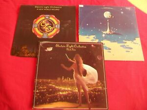 ELECTRIC LIGHT ORCHESTRA - 3 LP'S - PART TWO, A NEW WORLD RECORD, TIME