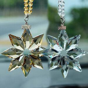 Christmas Crystal Snowflake Ornament Xmas Tree Hanging Pendant Car Decorations