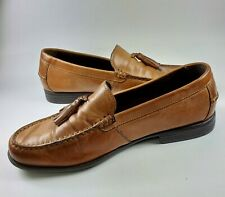 COLE HAAN  Brown Leather Tassel Classic Men's 8 M Loafers Slip on shoes