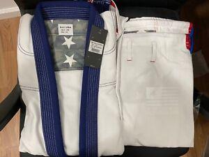 adidas Stars & Stripes Jiu Jitsu Gi BJJ Gi A4 White