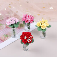 1Pc 1:12 Dollhouse Miniature Flowers Fairy Garden Ornament Doll House De JR