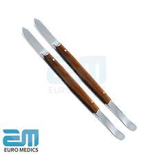 2X Dental Wax Knives Small Mixing SpatulasTechnician Lab Modelling Carver Tools