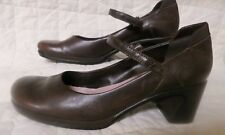 Nine West Mary Jane Heels Brown Leather Womens Sz 8M