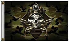 Camo 2Nd Amendment Skull W Guns 3 X 5 Motorcycle Biker Deluxe Flag #774 New