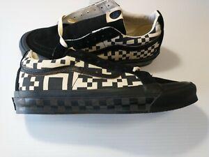 Van's Men's Taka Hayashi SK8-LO Reissue Black Skateboard Shoes sz 10.5 New