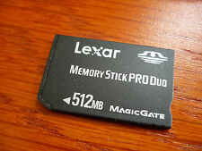 Lexar 512 mb  MEMORY STICK PRO DUO FOR SONY DSC-W7 W70 W5 W50