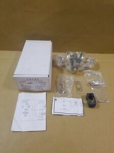 Emtek Astoria 8201 Crystal Door Knob Privacy Set Rope Rosette Polished Brass