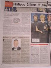PHILIPPE GILBERT : SPORTIF DE L'ANNEE 2011 - 19/12/2011 + DECES VACLAV HAVEL