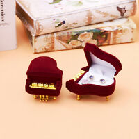 New Piano Ring Box Earring Pendant Jewelry Treasure Gift Case Wedding JR