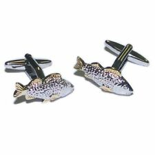 Fishing Fishermen Two Tone Carp Fish Cufflinks