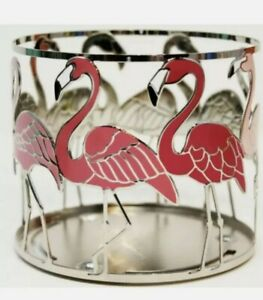 Bath & Body Works Pink Flamingo 3-Wick Candle Holder Brand New