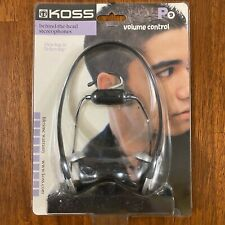 Koss P9 Behind The Head Earphones With Volume Control NEW Old Stock