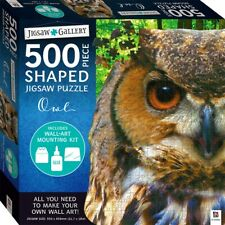 Hinkler 500pc Shaped Jigsaw Puzzle Owl Jigsaw Gallery Series -