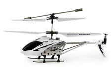Syma S107/107G 3 Channel Remote Control RC Helicopter with Gyro White & Silver