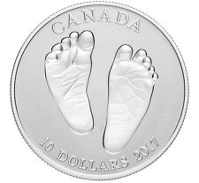Canada 2017 - 10$ Baby Gift Welcome To The World - 1/2 Oz Silver Coin BABYS FEET