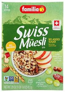 Familia Swiss Muesli Cereal, No Added Sugar, 29-Ounce Box (Pack of 6)