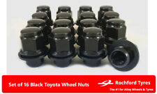 Black Original Style Wheel Nuts (16) 12x1.5 Nuts For Toyota MR2 [Mk3] 99-07